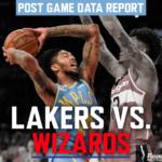 Post Game Data Report: Lakers vs Wizards