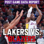 Lakers Data Report: Trail Blazers Game