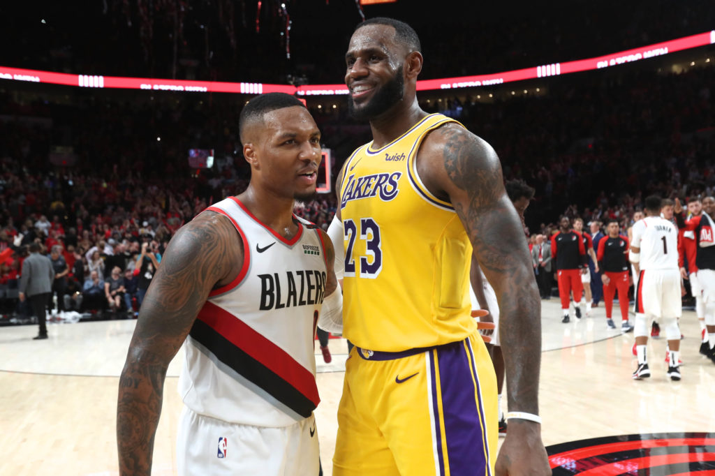 lakers blazers playoff preview lebron james damian lillard