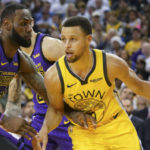 lakers warriors lebron james steph curry