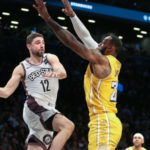 lakers nets lebron james joe harris