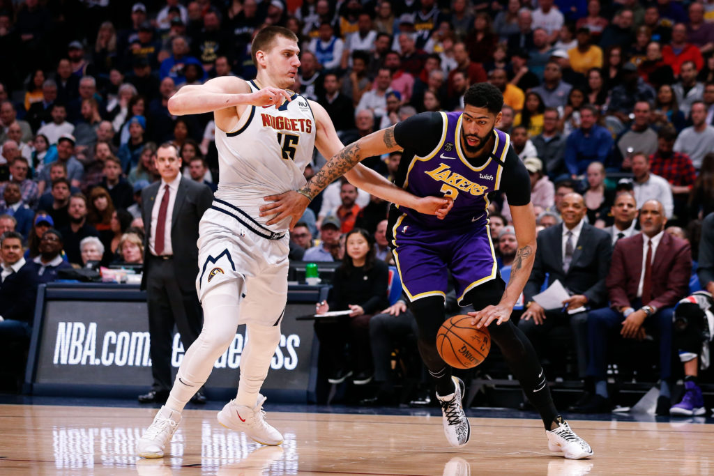 lakers nuggets anthony davis nikola jokic