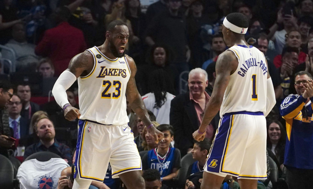 lakers clippers lebron james