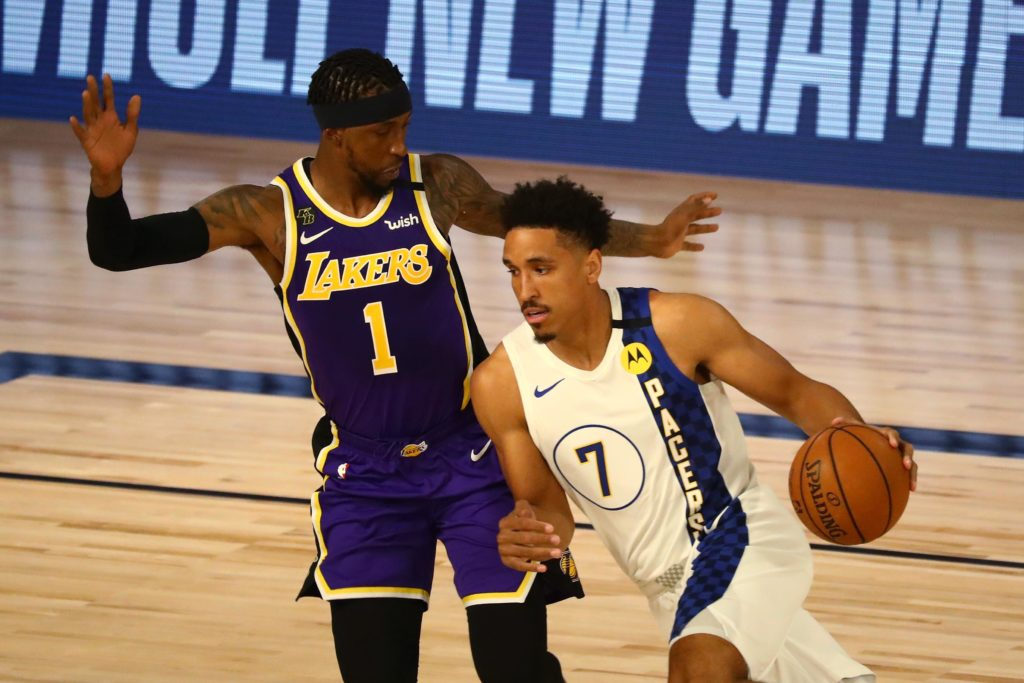 lakers pacers kcp malcom brogdon