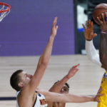 lakers nuggets lebron layup laker film room podcast