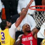 lakers trailblazers playoffs recap anthony davis damian lillard defense