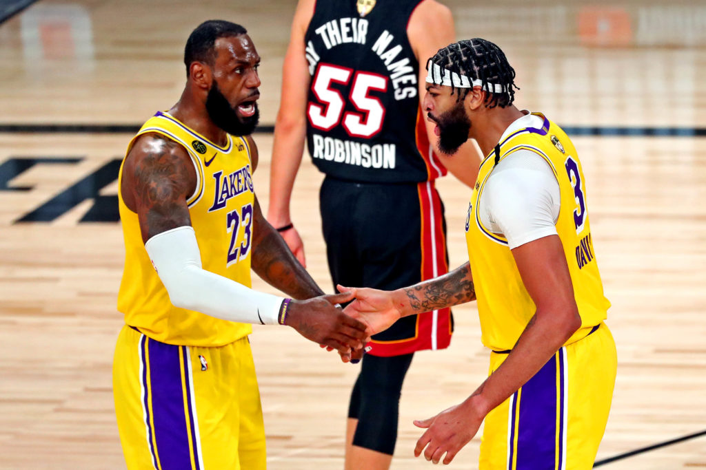 lakers heat lebron james anthony davis laker film room podcast built different