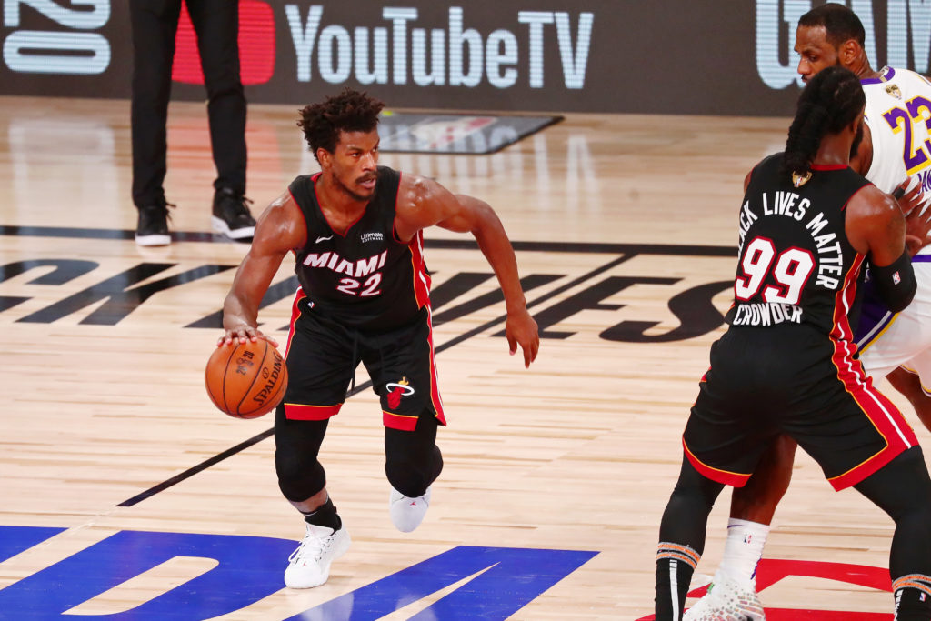lakers heat jimmy butler laker film room podcast