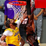 lakers heat nba finals anthony davis defense blocked shot