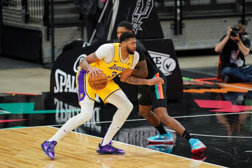 lakers spurs anthony davis