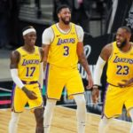 lakers anthony davis lebron james dennis schroder