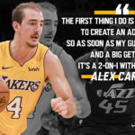 Laker Film Room: Alex Caruso on how he plays PG