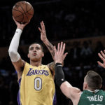 Lakers Hold On Late, Survive against Celtics to Win 108-107