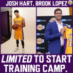 Lakers News: Brook Lopez and Josh Hart will be Limited to Start Camp