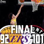 Lakers Go Cold in 4th, Fall to Raptors 101-92