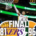 Lakers Offense Sputters in Utah, 96-81
