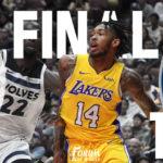 Lakers Preseason Opener Ends in Loss to Timberwolves 108-99