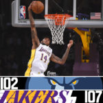 Lakers Hold on to Beat Grizzlies 107-102
