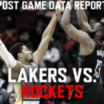 Lakers Data Report: Rockets Game