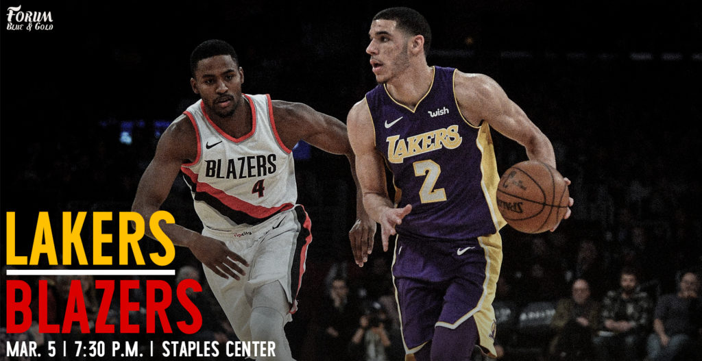 1bb7d5547 Lakers Game Preview  The Portland Trailblazers - Forum Blue And Gold