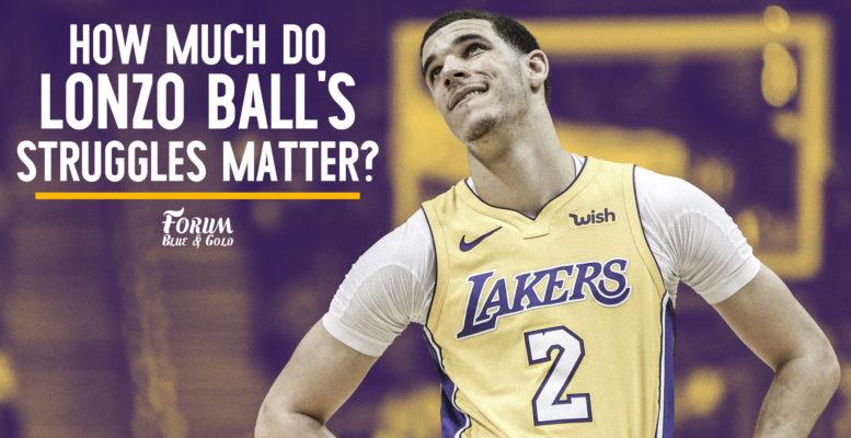 How Much Do Lonzo Ball's Struggles Matter?