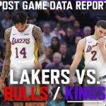 Lakers Data Report: Bulls and Kings Games