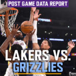 Lakers Data Report: Grizzlies Game