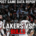 Lakers Data Report: Bulls Game