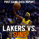 Lakers Data Report: Suns Game