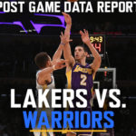 Lakers Data Report: Warriors Game