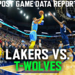 Lakers Data Report: Timberwolves Game